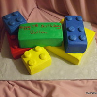Legos cake with buttercream