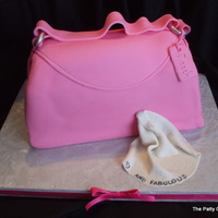 In Style Purse cake and buttercream covered in fondant.