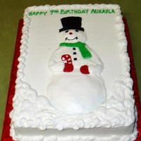 Snowman .buttercream work