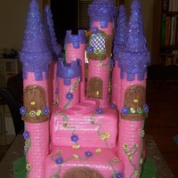 Princess Castle Cake Princess Castle Cake, towers are cardboard tubes; everything else is edible.