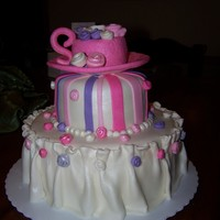 Tea Party Cake   2 Tier, Tea Party Cake,