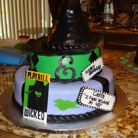 """wicked"" Themed 40Th Bday Made this ""Wicked"" themed cake for my niece's 40th birthday."
