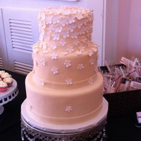 Daisy Wedding Cake   Did this dummy cake for a wedding show. It is a 10-8-6. TFL!