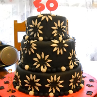 50Th Birthday Cake 50th Birthday cake!! My first paying customer...after several mistakes...it ended up costing me money :) But it turned out in the end