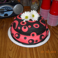 My First Fondant Cake This was my first fondant cake. It was for my daughters 13th bday. My cakes since then aren't exactly masterpieces...but I look back...