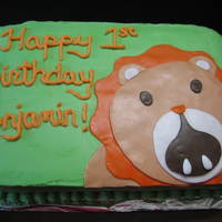 Lion Birthday Cake Parents asked me to duplicate the birthday invite as the cake!