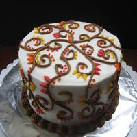 Holiday Henna I had some extra cake left over, so I made this cake for my mother for Thanksgiving!