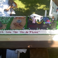 Juneteenth Celebration This cake was done for a Juneteenth Celebration (The end of Slavery) I started with the slave in chains and in front of a cotton field....