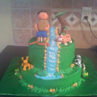 Diego Cake everything was hand made and all edible. this was a fun cake. The look on the little face that this was made for was priceless! Thanks You...