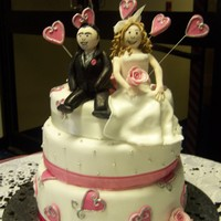 Heart Novelty Wedding Cake couple