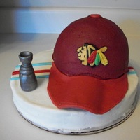 Blackhawks Hat   Blackhawks hat and Stanley cup made for my FIL b-day. Matching Chiefs hat for my BIL.