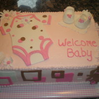 Baby Shower I love this cake by ladyonzlake. I always wanted to do this cake and when the time came to make a baby shower cake I had to try this one. I...