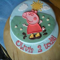 Peppa Pig For my friend's daughter's birthday. Madiera sponge with Lemon Curd filling. Had fun making this one.
