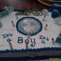 It's A Boy Pt.1 Quilted Baby Shower Cake