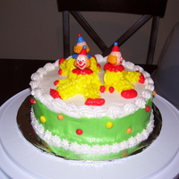 Clowns First cake that I really like , and actually was my second cake ever made.