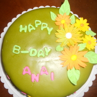 For My Friend Anai on she's 26 b-day, i make the fondant for a first time