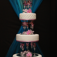 Champagne Flute Separators Wedding Cake Made this as a show cake for our very first Bridal Fair booth! It was huge hit! people where gathering and taking pictures all weekend!...