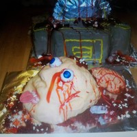 Oops My Head !!!!! Made this cake for my sons adult Halloween party .....It was a big hit