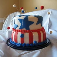4Th Of July Cake My first go at fondant!
