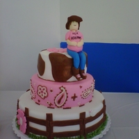 Pregnant Cowgirl Cake Inspired by a Google search find! A huge hit!
