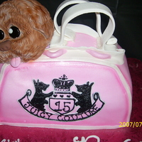 Juicy Couture juicy couture bag w/puppy....puppy made from cupcake