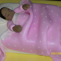 Baby In Bed all made with gumpaste and fondant