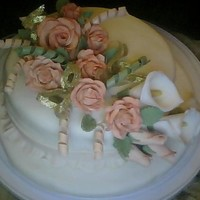Cake I Did For The Wilton Fondant/gumpaste Class sorry the quality wasnt good...had to use my webcam