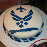 Air Force 2 Cake Here's a cake I made for my brother's retirement party.