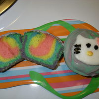 Hello Kitty Cupcakes tie-dye hello kitty cupcakes.