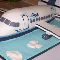 "Jet Blue Airplane This was for a 50-year surprise party. I never figured out why they wanted specifically a ""Jet Blue"" plane, but it was fun making..."