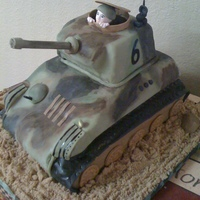 Army Tank Cake This is for a little 6 year old's birthday. Everthing is edible.