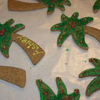 Christmas Palm Tree Cookies   I made these Christmas. They are gingerbread.