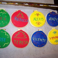 Christmas Ornament Fondant Cookie   Me and my mom made these for our family for Christmas. They are Sugar cookie with fondant on top.