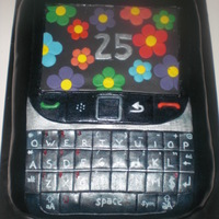 Blackberry I had no time to print a picture so I used some flowers.