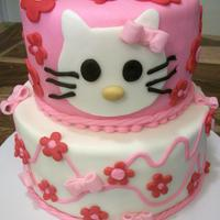 "Hello Kitty  Cake for my friend- who talked me into breaking my ""no licensed characters"" rule! Since the cake was a gift, it should be ok. One..."