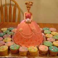 Barbie Princess Cake I made this for my daughters 7Th birthday. She loved it.