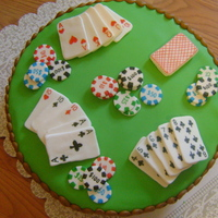 Poker Cake   This is the 1st time that I covered a cake in fondant. Thank you for looking!