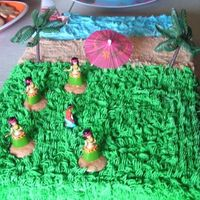 Hawaiian Party Cake WASC iced in BC