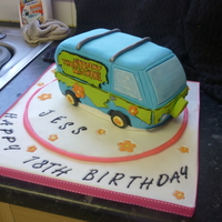 Scooby Doo Van Cake made for a friends 18th who is fanatical about scooby doo. it was all done in a day so a bit rushed but it was ok considering.