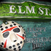 Nightmare On Elm St. Vs Friday The 13Th!  The lady ordered this cake for her hubbys 30th b-day. He's a huge Freddy and Jason fan! They didn't want anything to scary or...