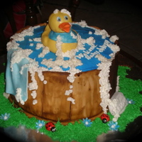 Rubber Duckie! My Sister in law brought me a picture she found on the internet and wanted a cake similar to it. Here's what she got. Rubber Duckie...
