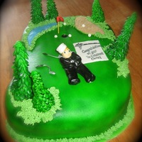 Golf Cake! Made this cake for an avid golfer / navy re-enlistment!