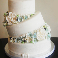Tilted Wedding Cake  Another wedge cake. =) fun to do as usual. this client wanted hers to be similar to the one i did in the past but some flower changes. i...