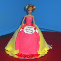 Barbie Cake Barbie was done all in fondant.