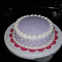 Lavender & White   One of my first cakes...just practicing my techniques :)