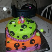 14Th Birthday Cake First attempt at making a tiered cake it was a last minute kinda thing. Please leave comments as what y'all think of my feeble...
