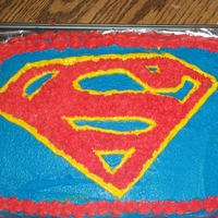 Superman Cake   Did this cake for my hubby for father's day.