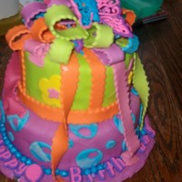 Bella's Cake 2nd time making a tiered cake, it was all red velvet with chocolate chip cc. Please let me know what u think.