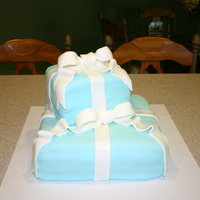 Tiffany Box Cake My First Fondant Cake outside of class
