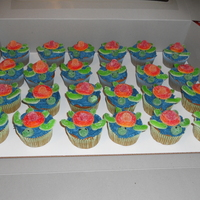 Sea Turtle Cupcakes Sea turtle cupcakes using candies for the turtles...easy to make and the kids loved them!